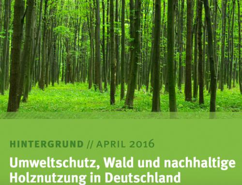 Umweltschutz, Wald und nachhaltige Holznutzung in Deutschland (04/2016, Umweltbundesamt)